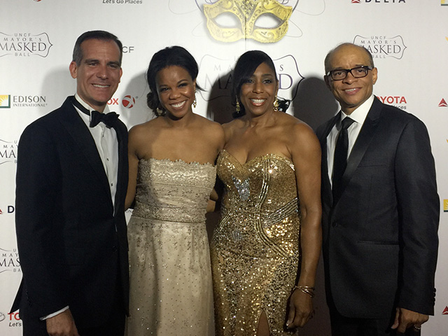 UNCF-LA-Mayor-Eric-Garcetti,-Jenifer-Childress,-Maurice-Jenkins