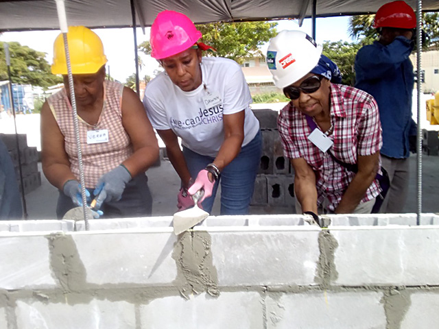 Verna Jones (Aunt) & Joyce Lewis (Mom) Guyana Mission build